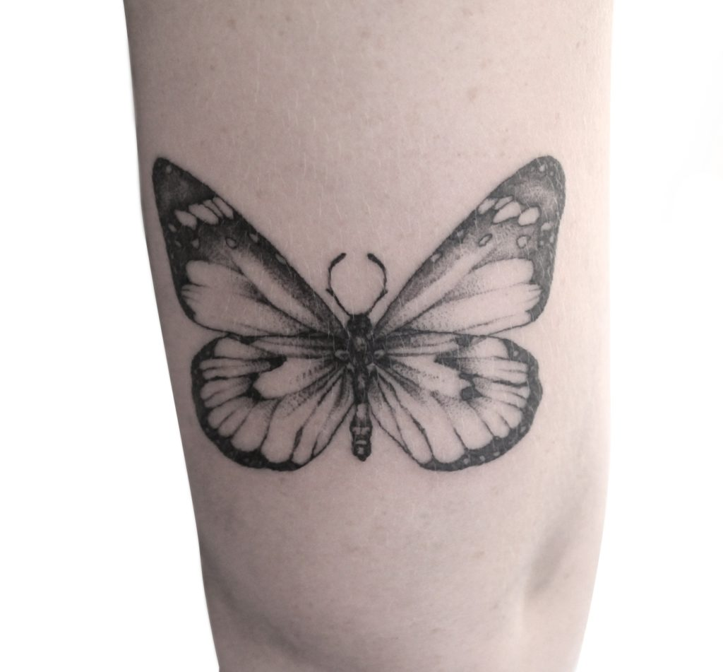 Butterfly Tattoo by Artist Beatrix at Folk Tattoo Studio Stellenbosch